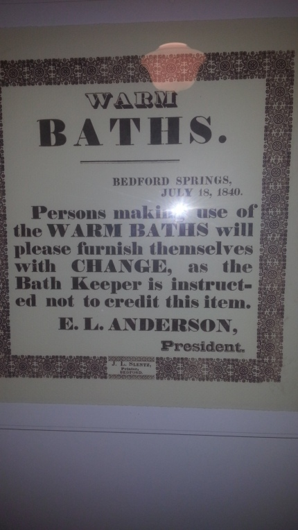 Bedford Springs Bath Notice